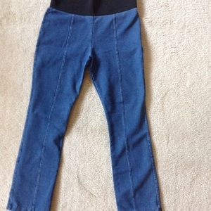 Stretchy jeans with elastic waist